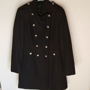 Moda International Black Wool Coat, NEW